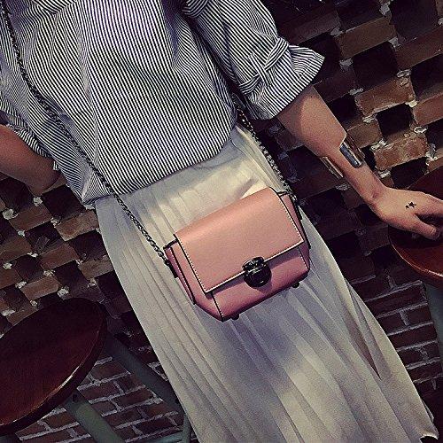 Neue Handtaschen koreanischen Mode neue Handtaschen helle Seite Beutel Freizeitaktivitäten Messenger Kette Schultertasche black