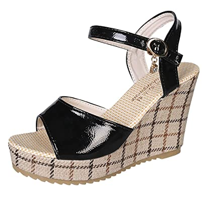 13e226120c28d Amazon.com : Women's Wedge Sandals, Iuhan Women Wedge Sandals Thick ...