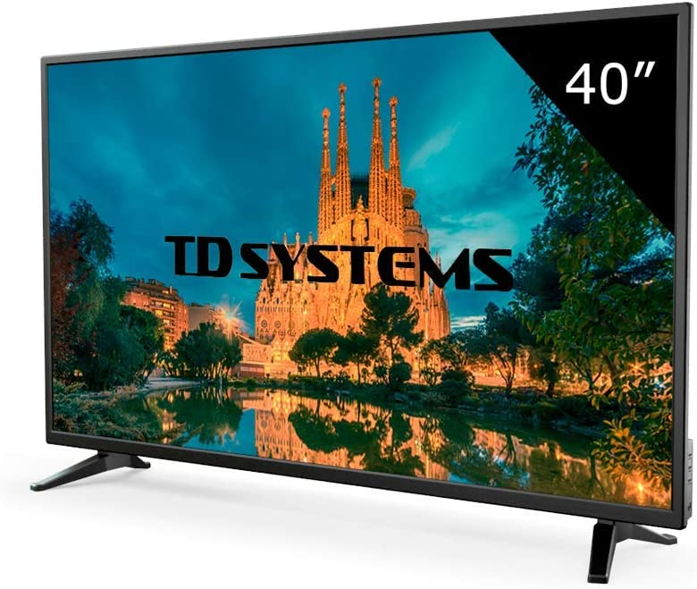 VGA 3X HDMI DVB-T2//C//S2 USB Grabador Reproductor Televisores LED 39,5 Pulgadas TD Systems K40DLX10F