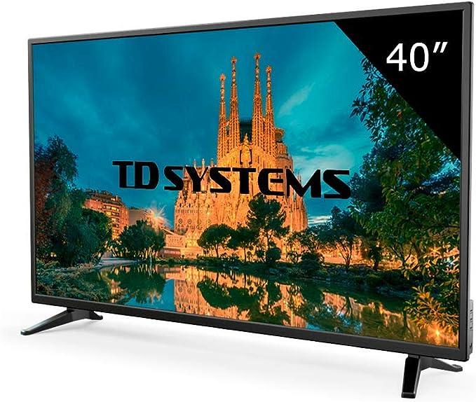 Televisor Led 40 Pulgadas Full HD, TD Systems K40DLM7F. Resolución 1920 x 1080, 3X HDMI, VGA, USB Reproductor y Grabador.: Amazon.es: Electrónica