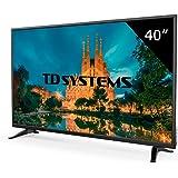TD Systems K40DLM7F - Televisor Led 40 Pulgadas Full HD, resolución 1920 x 1080, 3X HDMI, VGA, USB Reproductor y Grabador