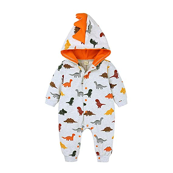 Baby Jumpsuit,Toddler Kids Baby Letter Boys Girls Hoodie Outfits Clothes Romper for 0-2 Years Old