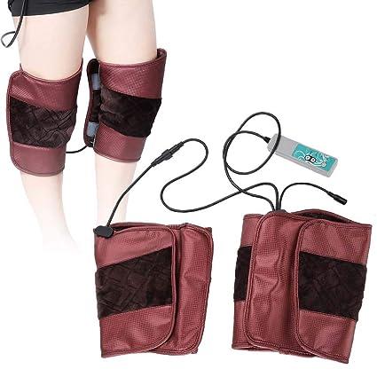Masajeador de rodilla con calefacción eléctrica, almohadilla de masaje de rodilla unisex para aliviar el dolor y mantener el calor(EU)
