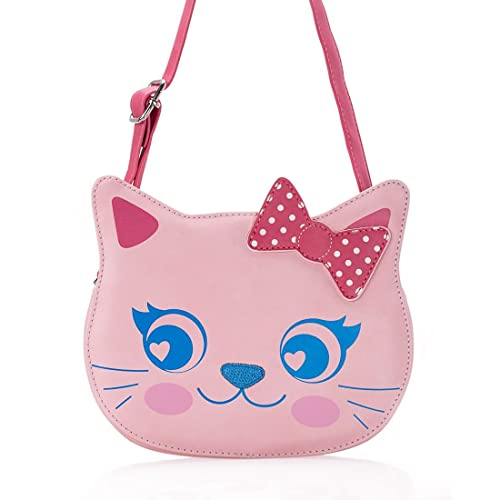 5e4a82b8a723 Ava   Kings Little Girl Pink Faux Leather Fun Design Cat Shaped Purse