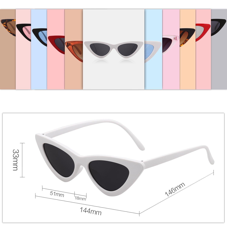 bf5239d55516c SOJOS Clout Goggles Cat Eye Sunglasses Vintage Mod Style Retro Kurt Cobain  Sunglasses SJ2044 with White Frame Grey Lens - SJ2044C4   Sunglasses    Clothing