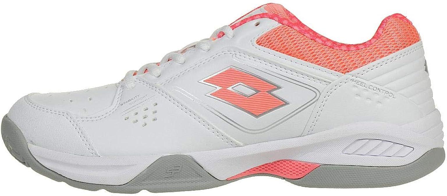 Lotto Chaussures de Tennis Femmes T-Tour VII 600 W Blanc Violet S1485