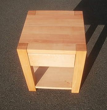 Nachttisch Holztisch Beistelltisch Erle massiv. Maße : 40x40x50cm ...