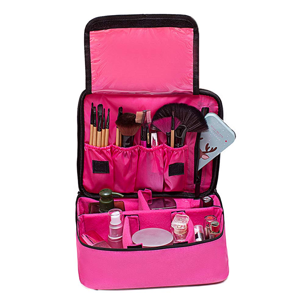 Makeup Bag Makeup Case Mini Makeup Train Case with Adjustable Dividers for Cosmetics Makeup Brushes Toiletry Jewelry Digital Accessories Suces