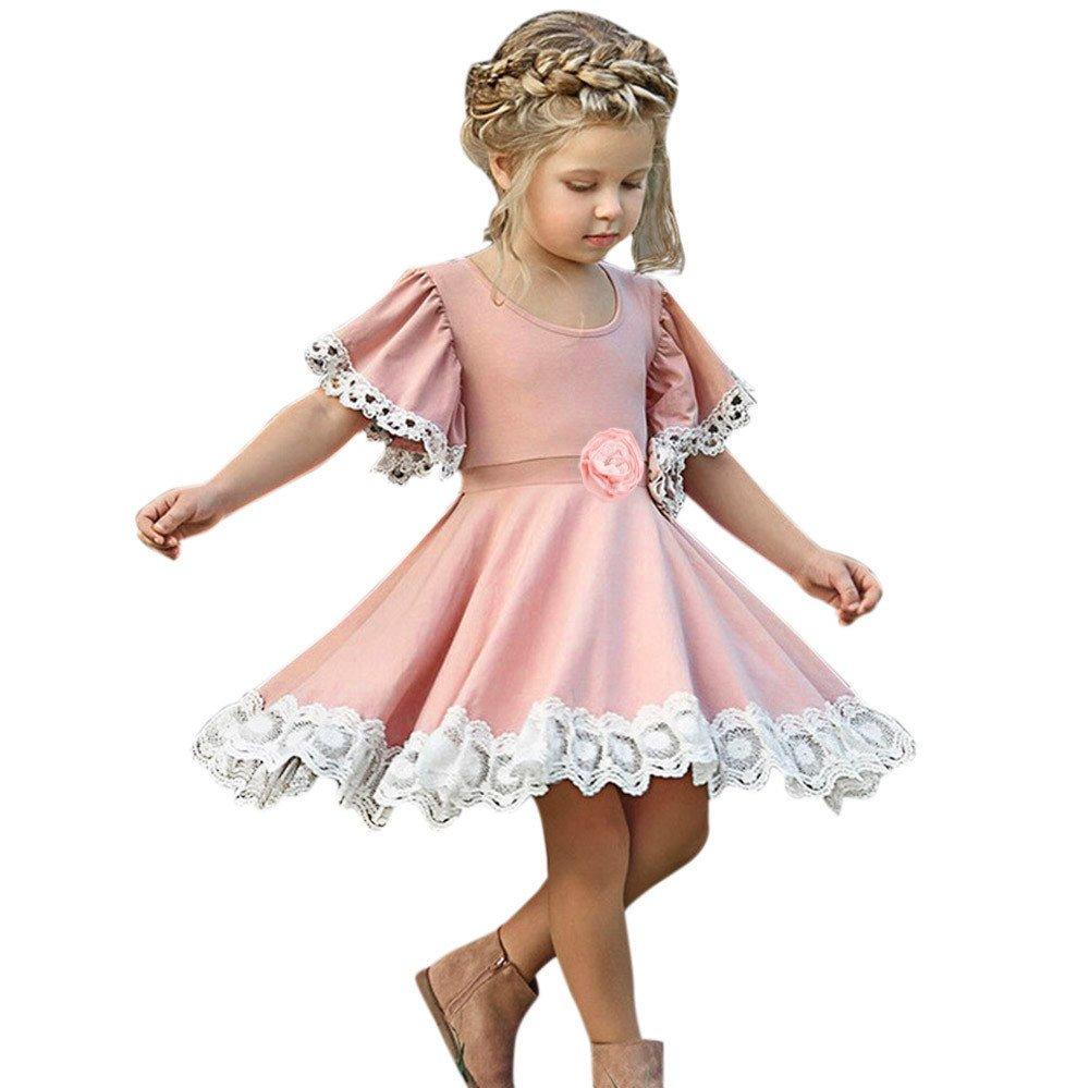 Feixiang Black Five Cyber Monday Vestido de la Muchacha de los niños de Encaje Color sólido Vestido de Boda de la Boda Vestido de cumpleaños Vestido de ...