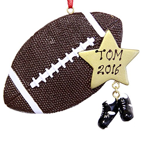 Personalized Sports Football Christmas Ornament - Free Personalization
