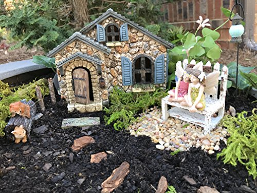 Miniature Fairy Garden Starter Kit Stanford Cottage And 5