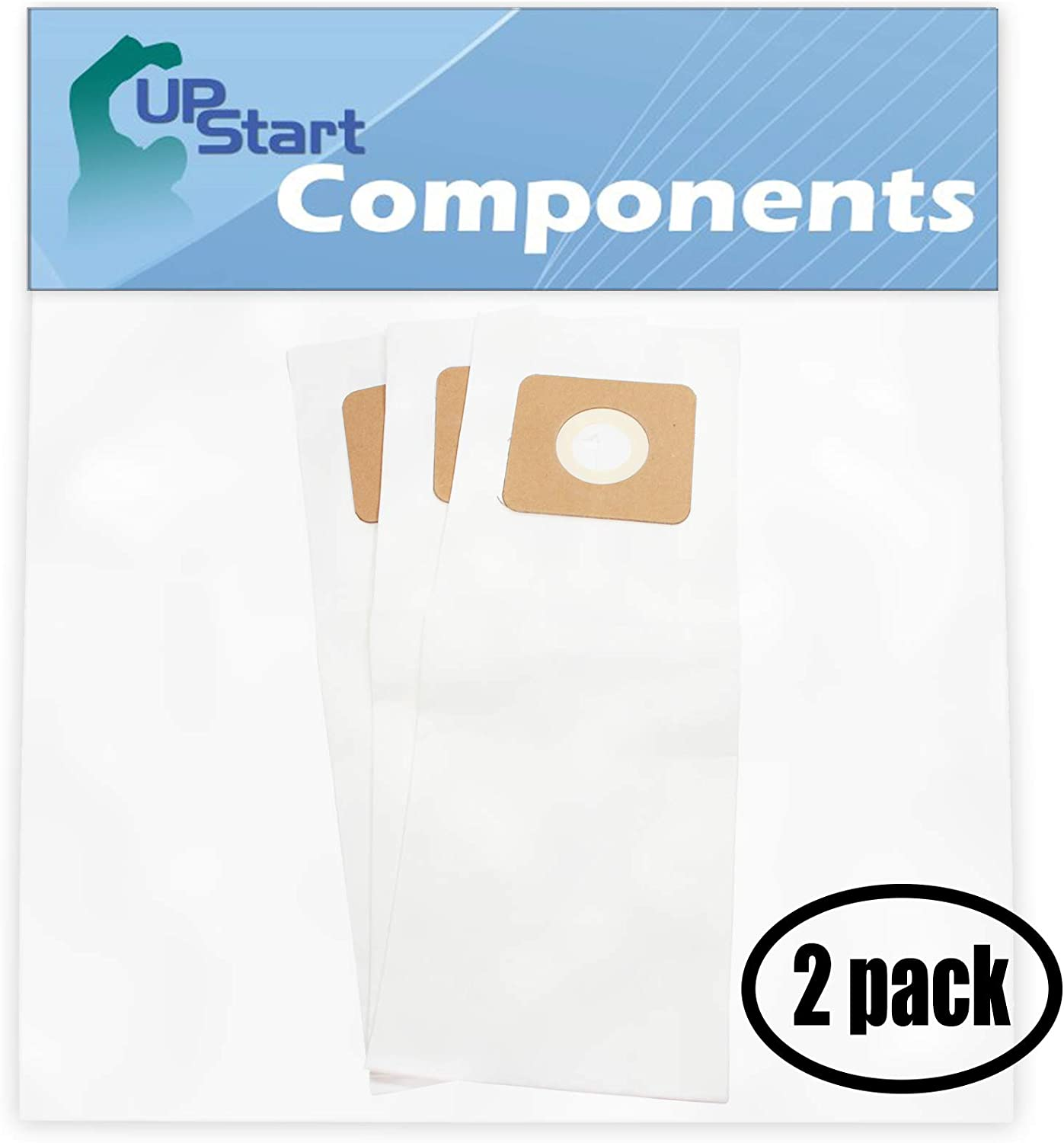 Upstart Battery 6 Replacement for Panasonic MCV5247 Vacuum Bags with 7-Piece Micro Vacuum Attachment Kit - Compatible with Panasonic Type U, U-3, U-6 Vacuum Bags (2-Pack, 3 Bags per Pack)
