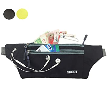 82700a94e29d VANCIC Unisex Women Men Running Travel Hiking Cycling Camping Casual Waist  Pack Fanny Pack Bag Belt Zip Pouch Opening for Headphones,Secure Holder for  ...