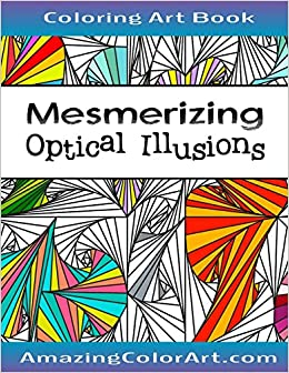 amazon com mesmerizing optical illusions coloring book for adults