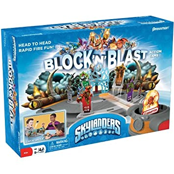 skylanders block and blast action game