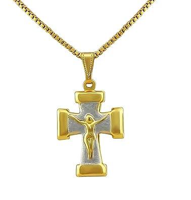 Hanessa Damen Schmuck Halskette Vergoldet Jesus Christus