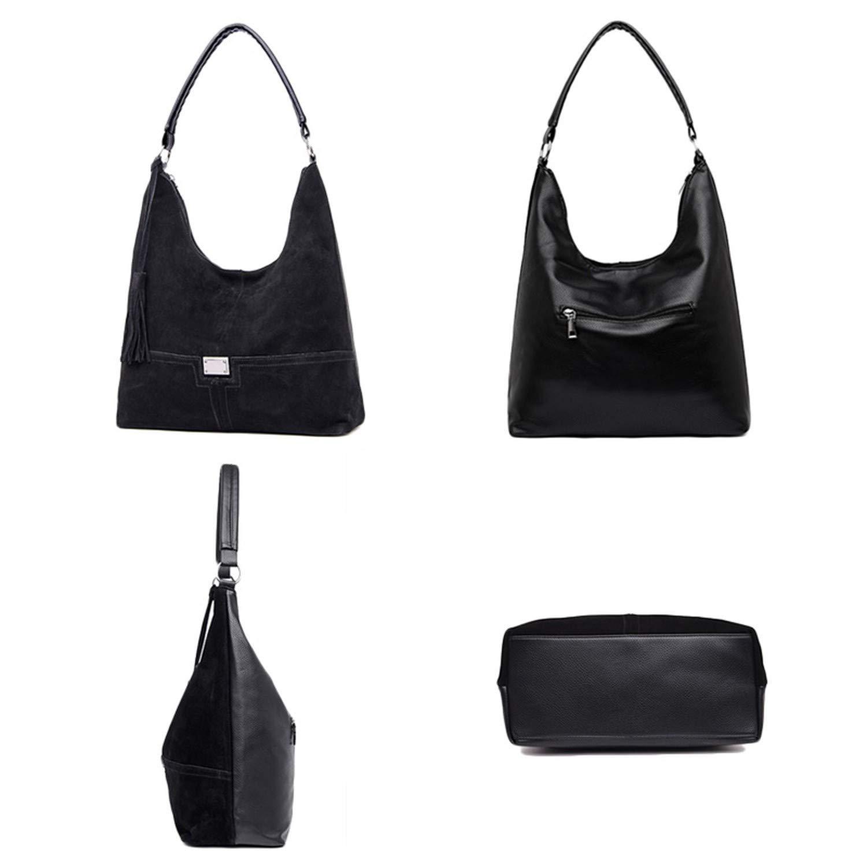 Chibi-store womens handbags hobo Suede leather shoulder bag female tassel Casual tote hand bags