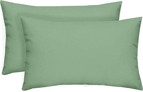 Set of 2 Indoor / Outdoor Decorative Lumbar / Rectangle Pillows
