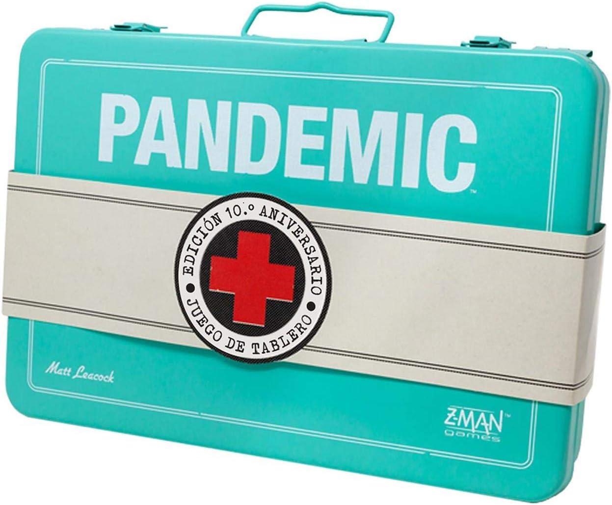 Z-man Games España - Juego Pandemic (10º Aniversario) Azul: Amazon.es: Juguetes y juegos