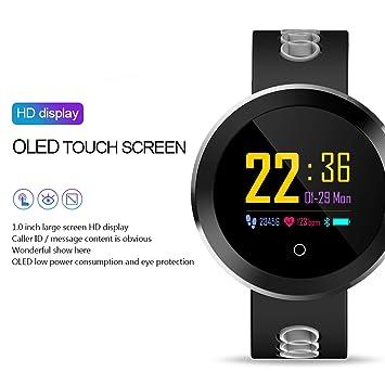 Q8 Pro 0.95 Pulgadas OLED Bluetooth Reloj Inteligente IP68 Rastreador a Prueba de Agua Smartwatch (Color: Gris): Amazon.es: Electrónica