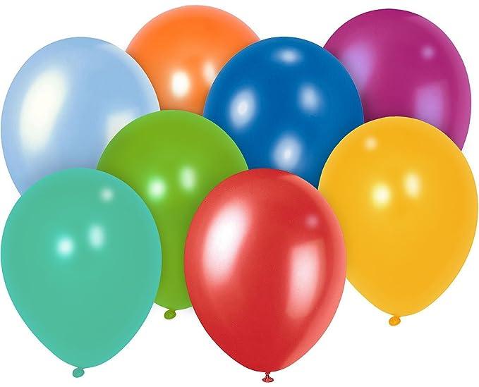 Playtastic PE-8157 Ballon: 100er-Megapack Bunte, 30 cm (Helium Luftballons), Mehrfarbig