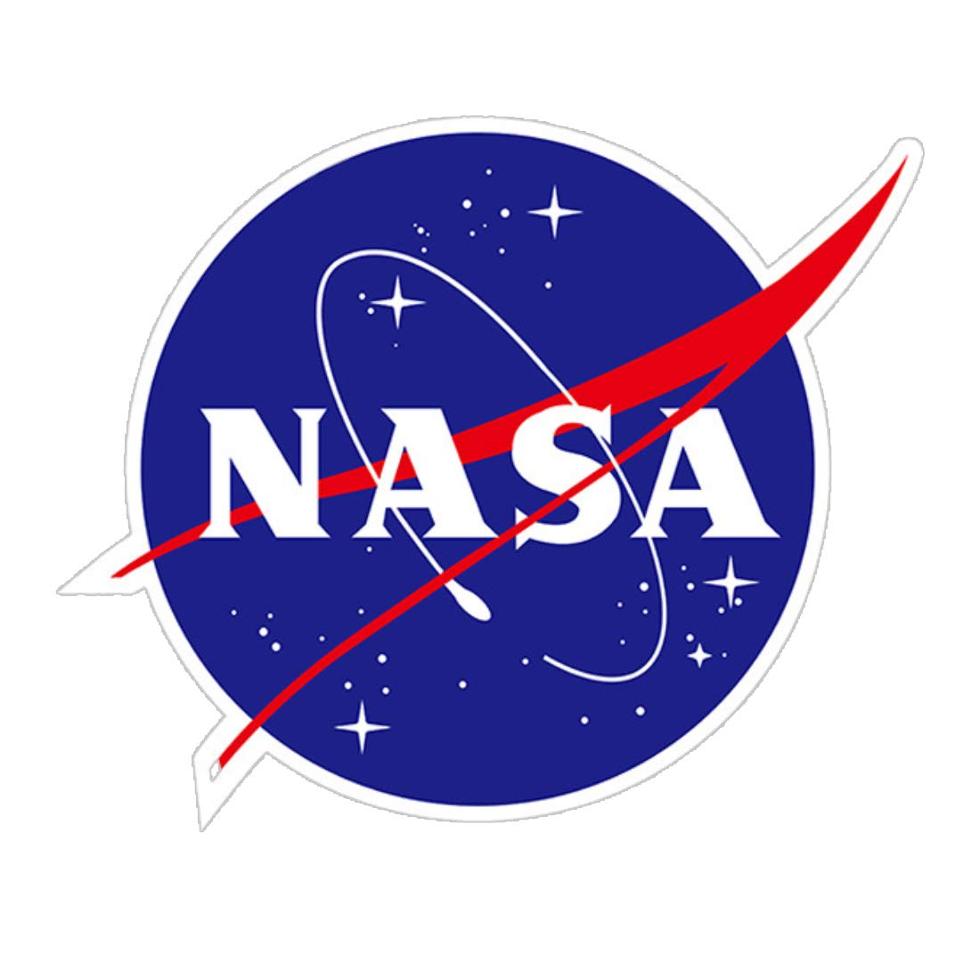 Car Waterproof Decal Sticker Writing Station NASA Stickers for Motorcycles 3.9 x 4.7 inch Riders