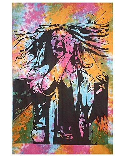 Bob Marley Multicolor Tie Dye Tapestry Wall Hanging Rasta Reggae Hippy Hippie Tapestry Cotton College Dorm - Bob Hangings Marley Wall