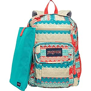 JanSport Digital Student Laptop Backpack (Malt Tan Boho Stripe)