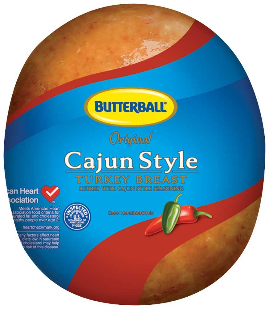 Butterball Cajun Style Turkey Breast, 6.5 Pound -- 2 per case.