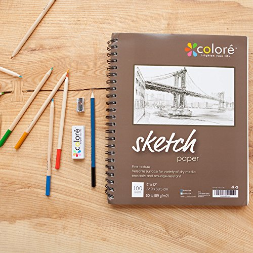 Colore 9x12-Inch Spiral Sketch Pad (1 Pack) - Buy Online ...