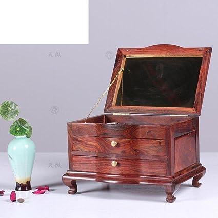 Joyero de caoba roja palo/Caja China madera maciza madera tesoro/marry me joyero