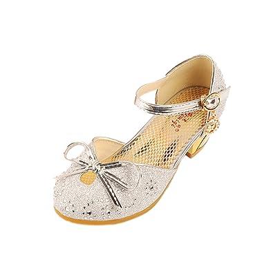 72800c1fc082 YYF Fille Enfant Ballerine Sandale Chuassure de Princesse a Talon Elegant  avec des Petits Papillons  Amazon.fr  Chaussures et Sacs