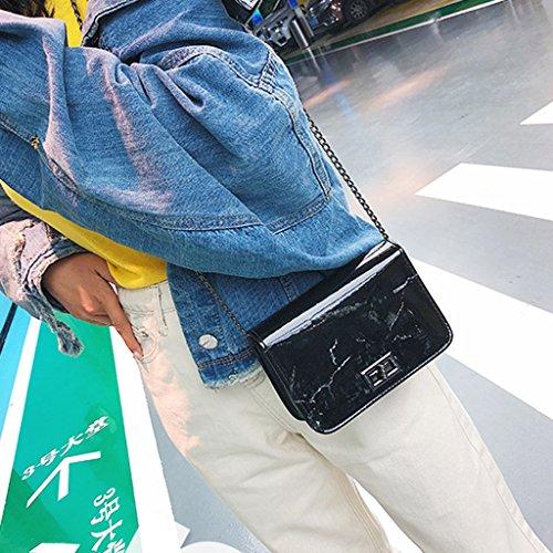 Women Messenger Bag Black Tote Bags Handbag Shoulder JAGENIE Leather Purse White Marble Pattern Hobo gA1TdcSq