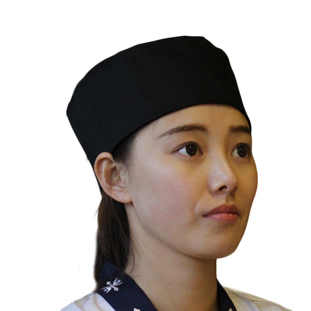 Nanxson(TM Men's Black Chef Working Beanie Kitchen Cook Carting Sushi Hat Mesh Breathable CF9022