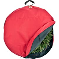 TreeKeeper Wreath Storage Bag with Direct Suspend Handle, Red, 24-Inch