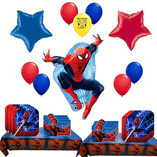 Spider-man Party Supply and Balloon Bundle