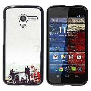 Be Good Phone Accessory // Dura Cáscara cubierta Protectora Caso Carcasa Funda de Protección para Motorola Moto X 1 1st GEN I XT1058 XT1053 XT1052 XT1056 XT1060 XT1055 // Brooklyn B