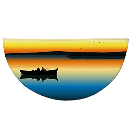 Fishing Decor For Homes | Amazon Com Half Round Door Mat Entrance Rug Floor Mats Fishing