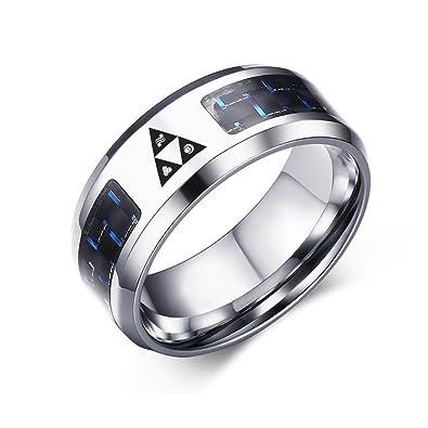 Amazon.com: VNOX Legend of Zelda Triforce anillos de fibra ...
