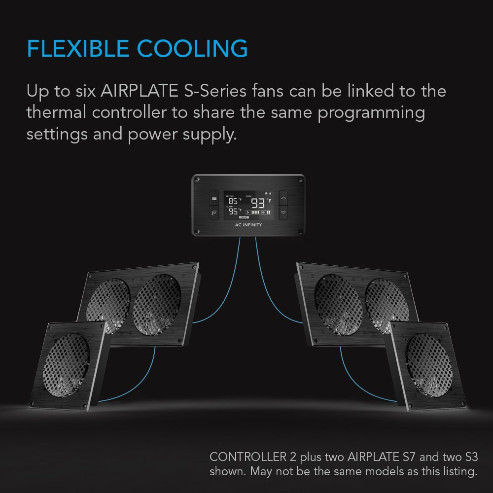 Home Theater Cabinet Fan Amazoncom Ac Infinity Controller 2 Fan Thermostat And Speed