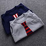 Happy Cherry Child Pullover Fauxed Tie Round Neck
