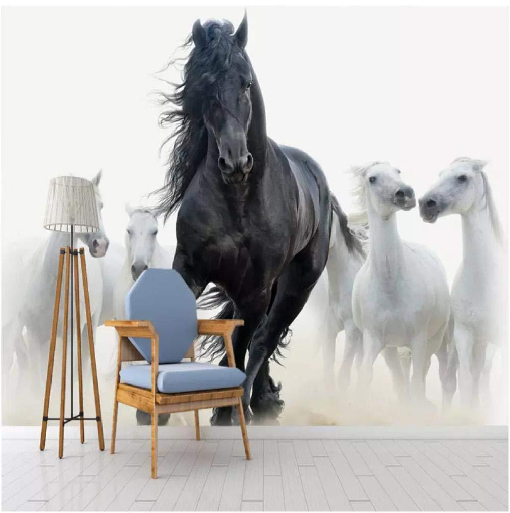 Amazon Com 3d Photo Wallpaper Modern Art Black White Horse Tv