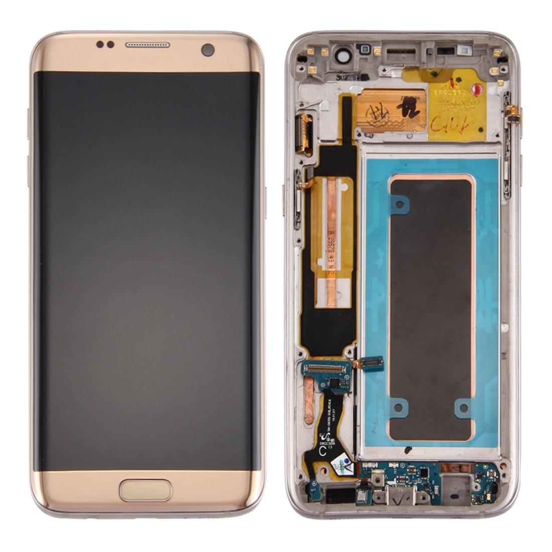 Repuestos para celulares iPartsBuy para Samsung Galaxy S7 Edge / G9350 Pantalla LCD + pantalla táctil Digitizador Asamblea con marco y puerto de carga Junta ...