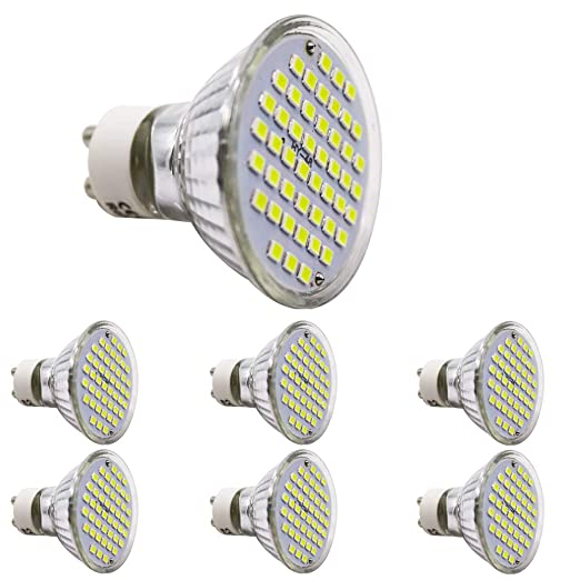 Bombilla LED GU10 frío blanco 2.5 W, equivale a halógeno de 20 W, 220