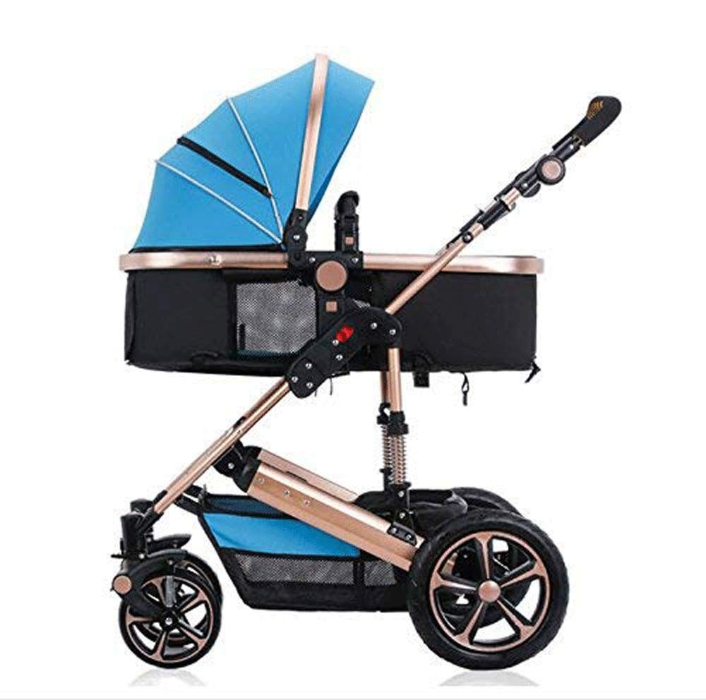 D TYT Can Lie Foldable Shock Absorber Baby Stroller Can Turn Cart (1-5 Years Old) (color   D)