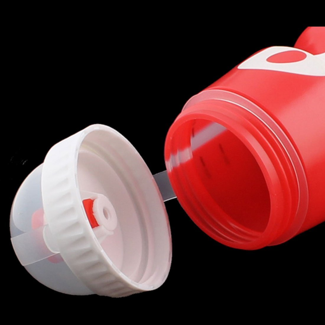 Amazon.com : eDealMax plástico Viajes Deportes colador de té de agua del diseño de la Botella de 650 ml Holder Blanco Rojo : Pet Supplies