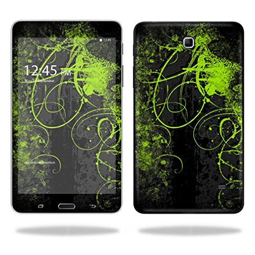 """UPC 682017797373, Mightyskins Protective Vinyl Skin Decal Cover for Samsung Galaxy Tab 4 7"""" Tablet T230 skins wrap sticker skins Green Distortion"""