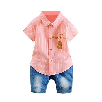 6ea41e645af23 2点セット(シャツ+パンツ)男女 3色 おしゃれ 夏 半袖 ベビー服 男の子