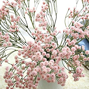 MMKKWDS 90 Heads Artificial Flowers False Baby's Breath Gypsophila Wedding Decoration Birthday DIY Photo Props Flower Heads 108