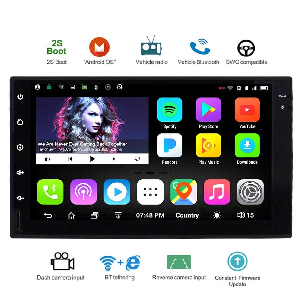 New Standard 2G//32G Car Entertainment Multimedia Radio,WiFi//BT Tethering Internet,Support 128G SD /&More EINCAR Universal 2 Din Android Car Navigation Stereo with Bluetooth